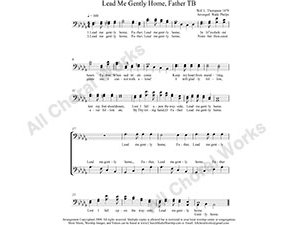 Lead Me Gently Home Father Male Choir Sheet Music TB 2-part Make unlimited copies of sheet music and the practice music.