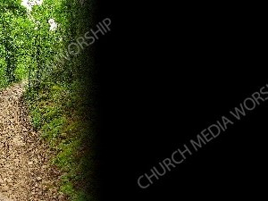 Narrow Mountain Path- Black Christian Worship Background. High quality worship images for use to spread the Gospel and enhance the worship experience.