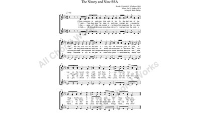 Ninety and Nine Female Choir Sheet Music SSA 3-part Make unlimited copies of sheet music and the practice music.