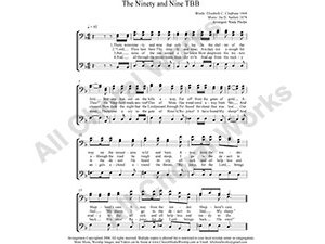 Ninety and Nine Male Choir Sheet Music TBB 3-part Make unlimited copies of sheet music and the practice music.