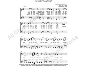 No Night There Female Choir Sheet Music SSAA 4-part Make unlimited copies of sheet music and the practice music.