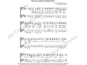 O Come all Ye Faithful Female Choir Sheet Music SSA 3-part Make unlimited copies of sheet music and the practice music.