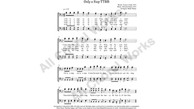 Only a step to Jesus Male Choir Sheet Music TTBB 4-part Make unlimited copies of sheet music and the practice music.