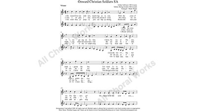 Onward Christian Soldiers Female Choir Sheet Music SA 2-part Make unlimited copies of sheet music and the practice music.