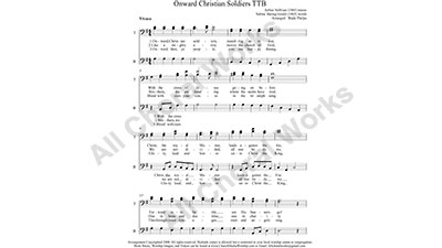 Onward Christian Soldiers Male Choir Sheet Music TBB 3-part Make unlimited copies of sheet music and the practice music.