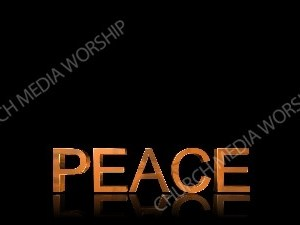 Peace Gold letter 3D Christian Worship Background. High quality worship images for use to spread the Gospel and enhance the worship experience.