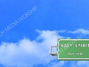 Road sign right Holy Spirit Christian Worship Background. High quality worship images for use to spread the Gospel and enhance the worship experience.