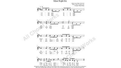 Silent Night Female Choir Sheet Music SA 2-part Make unlimited copies of sheet music and the practice music.
