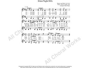 Silent Night Female Choir Sheet Music SSAA 4-part Make unlimited copies of sheet music and the practice music.