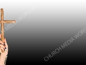 Tattoo hand holding wood cross - BandW Christian Worship Background. High quality worship images for use to spread the Gospel and enhance the worship experience.