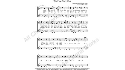 The First Noel Female Choir Sheet Music SSA 3-part Make unlimited copies of sheet music and the practice music.