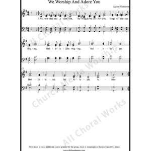 We worship and adore you Sheet Music (SATB) Make unlimited copies of sheet music and the practice music.