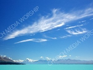 Turquoise blue waters Christian Worship Background. High quality worship images for use to spread the Gospel and enhance the worship experience.