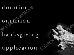 ACTS acronym Christian Worship Image. High quality worship images for use to spread the Gospel and enhance the worship experience.