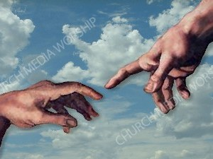 Hand of God V1 Christian Worship Image. High quality worship images for use to spread the Gospel and enhance the worship experience.