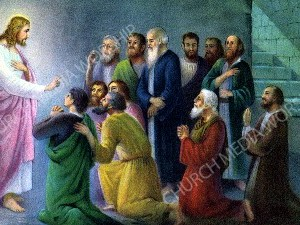 Jesus appears to the disciples Christian Worship Image. High quality worship images for use to spread the Gospel and enhance the worship experience.