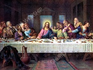 Last Supper V7 Christian Worship Image. High quality worship images for use to spread the Gospel and enhance the worship experience.