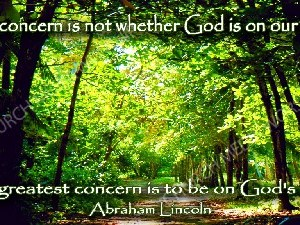 Abraham Lincoln Quote V1 Christian Worship Image. High quality worship images for use to spread the Gospel and enhance the worship experience.