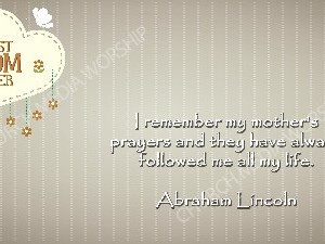Abraham Lincoln quote V2 Christian Worship Image. High quality worship images for use to spread the Gospel and enhance the worship experience.