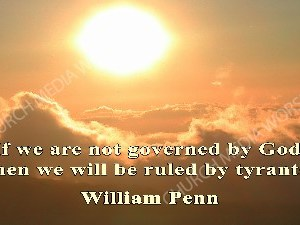 William Penn Quote V1 Christian Worship Image. High quality worship images for use to spread the Gospel and enhance the worship experience.