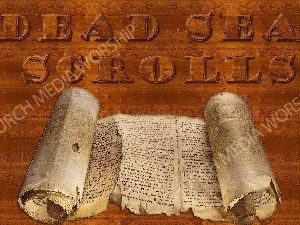 Dead Sea Scrolls Christian Worship Image. High quality worship images for use to spread the Gospel and enhance the worship experience.
