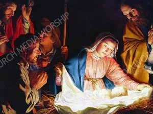 Nativity V14 Christian Worship Image. High quality worship images for use to spread the Gospel and enhance the worship experience.