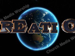 Creation over the earth Christian Animated Still A professional animated intro that's stops on a still image without continuous movements or distraction.