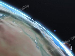 Jesus over the earth Version 2 Christian Video Clip Use as a standalone or added as a clip to make a themed Christian video. Enhance the Worship experience.