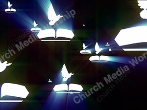 Bible Dove Water Christian Worship Loop Video Perfectly timed for no glitches in 1080P HD. Room for lyrics