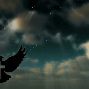The Spirit with the Cross Night Sky Christian Worship Loop Video Perfectly timed for no glitches in HD. Room for lyrics