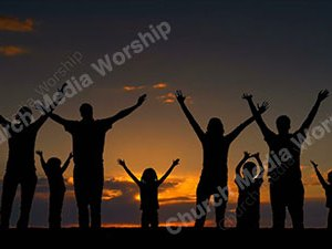 Family Worship Silhouette Christian Video Clip Use as a standalone or added as a clip to make a themed Christian video. Enhance the Worship experience.