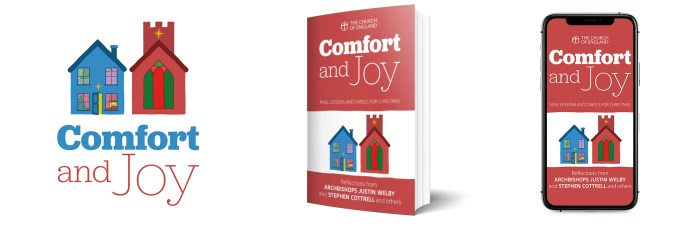 Comfort and Joy book and app mockups.