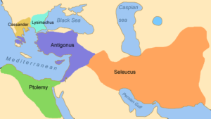 The kingdoms of the DiadochiImage by GNU via Wikimedia Commons, under CCA-SA
