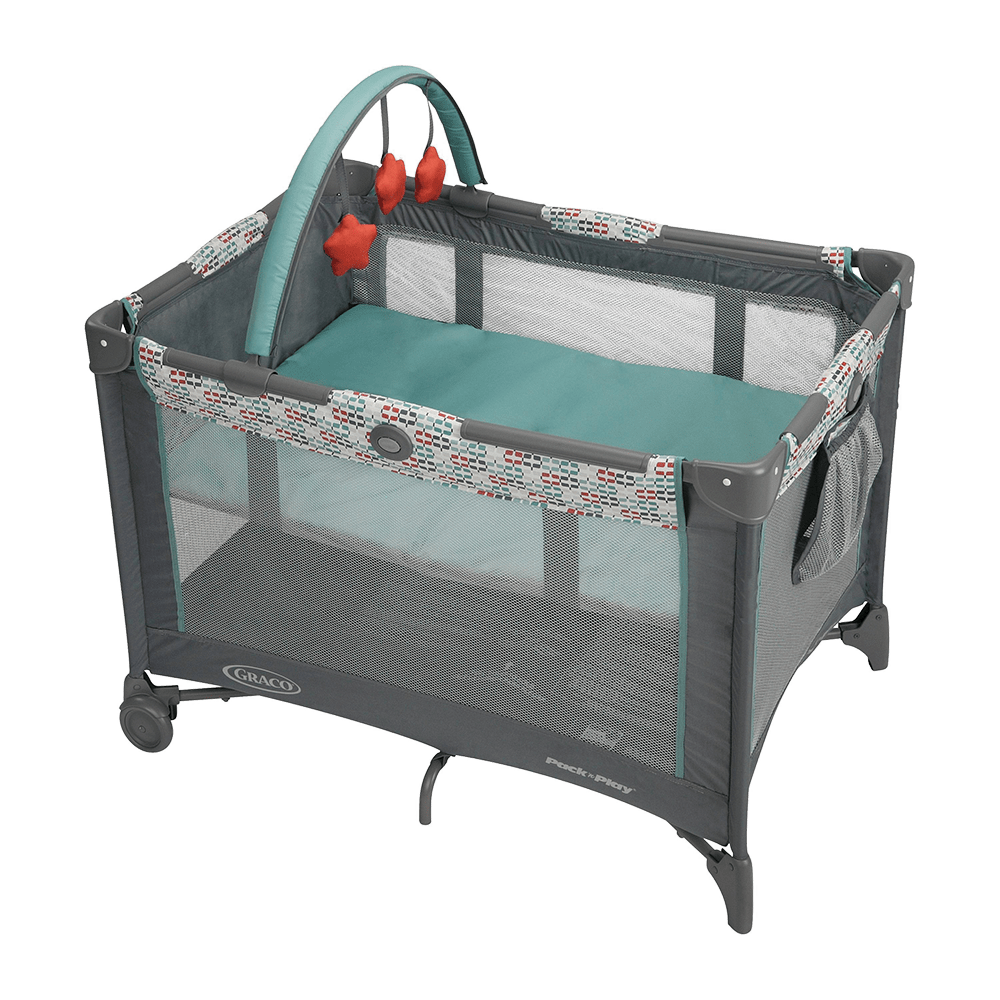 PackNPlay with Bassinet  Toy Bar Church On Wheels
