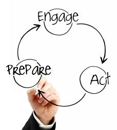Prepare, Engage, Act