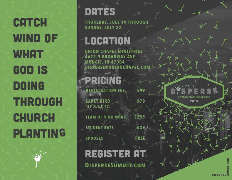 Disperse Church Planting Summit July 19-22