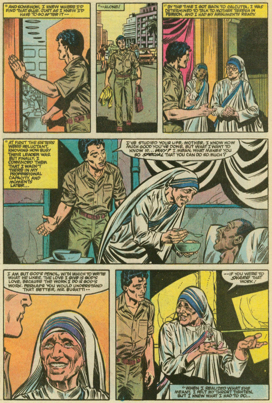 Mother Teresa Was a Marvel Comic Book Hero in the 80s