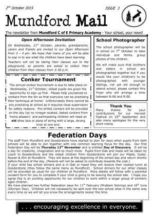 thumbnail of Newsletter 2nd October 2015
