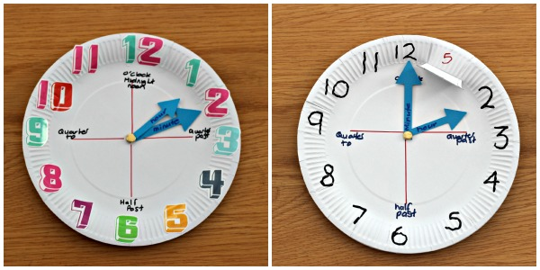 How to make a paper plate clock - Mum In The Madhouse