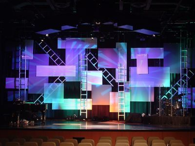 Tetris Construction Site  Church Stage Design Ideas