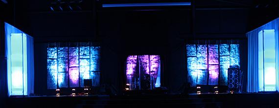 Hammered  Church Stage Design Ideas