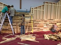 Form-Fitting Wood Wall | Church Stage Design Ideas