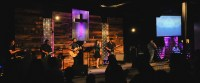 Metal and Wood Grain | Church Stage Design Ideas