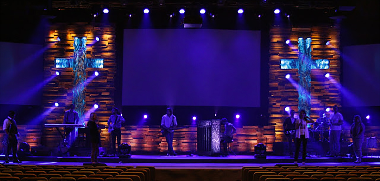 Throwback Crossing Textures  Church Stage Design Ideas