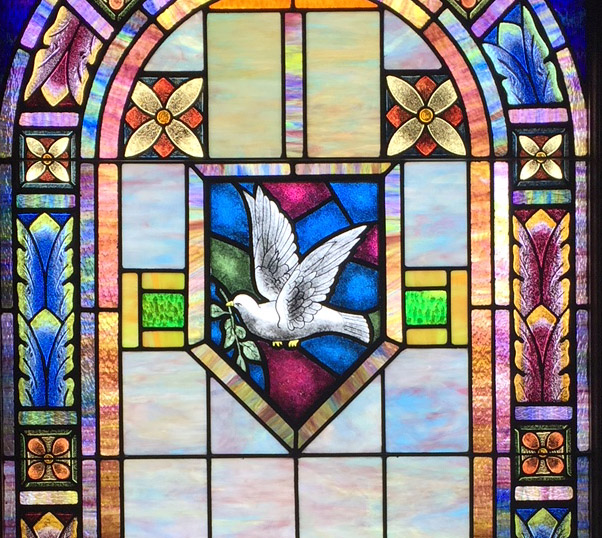 restored church stained glass window texas
