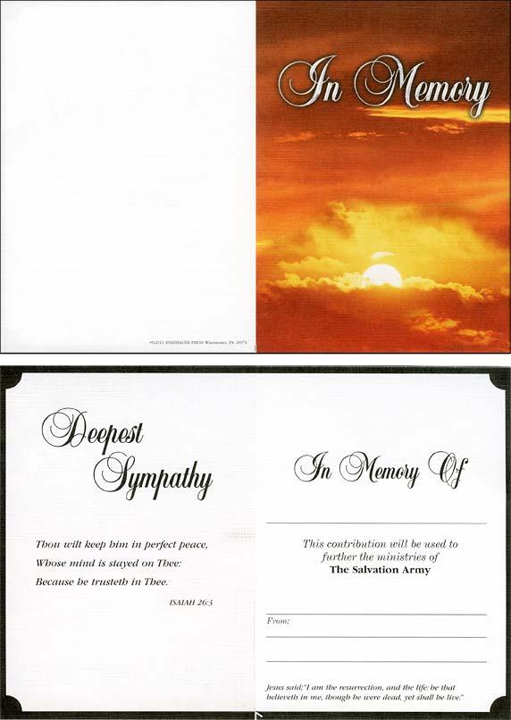 Church Memorial Thank You Cards