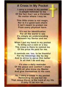 Cross In My Pocket Prayer Cards Quantity Discounts
