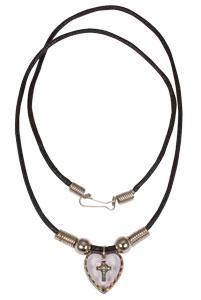 Hologram Cross Heart Necklace
