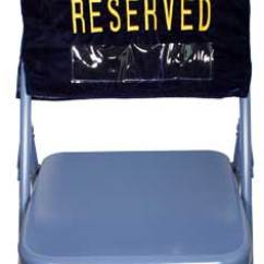 Folding Chair Embroidered Camping Chairs For Fat People Reserved Velvet Cover