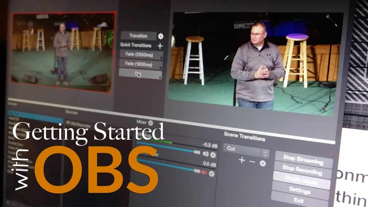 How To Get Started Live Streaming With Obs Open Broadcaster Software Church Training Academy